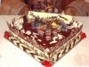 A custom chocolate birthday cake.